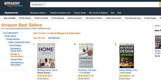 Amazon #1 Best Selling Author - Natalie Stevens